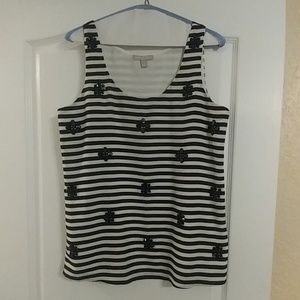 😻😻😻Banana Republic Stripped Black and White Top
